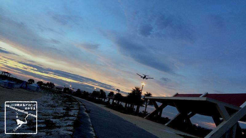 沖縄本島 西海岸のサンセット風景