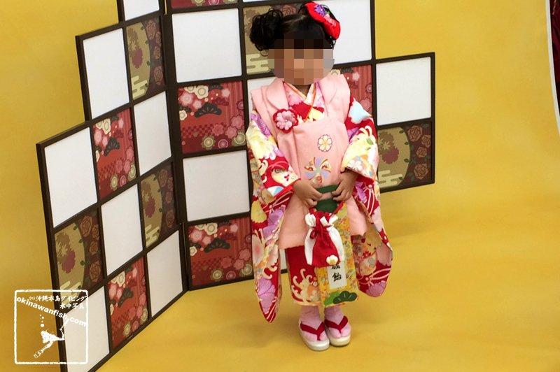 女の子 3歳 七五三 前撮り 着物 写真 撮影