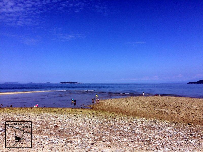 2017 ゴールデンウィーク 家族旅行 愛媛県 今治市 瀬戸内海の海 潮干狩り