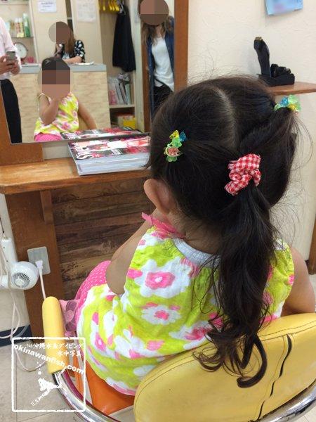 3歳 娘 美容院 初体験