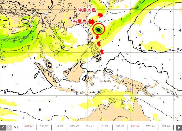 日本に関係しそうな台風