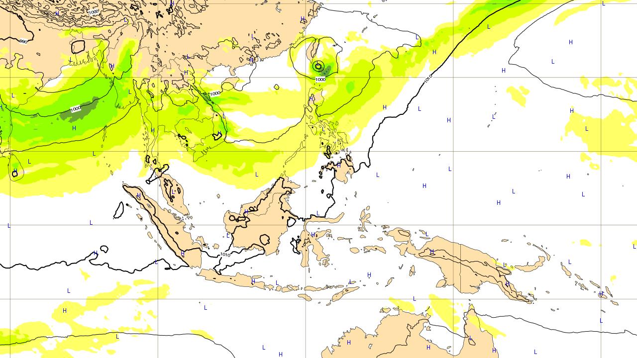 2つ目の沖縄地方に影響がありそうな台風予想進路 2018年6月13日(水)予想図
