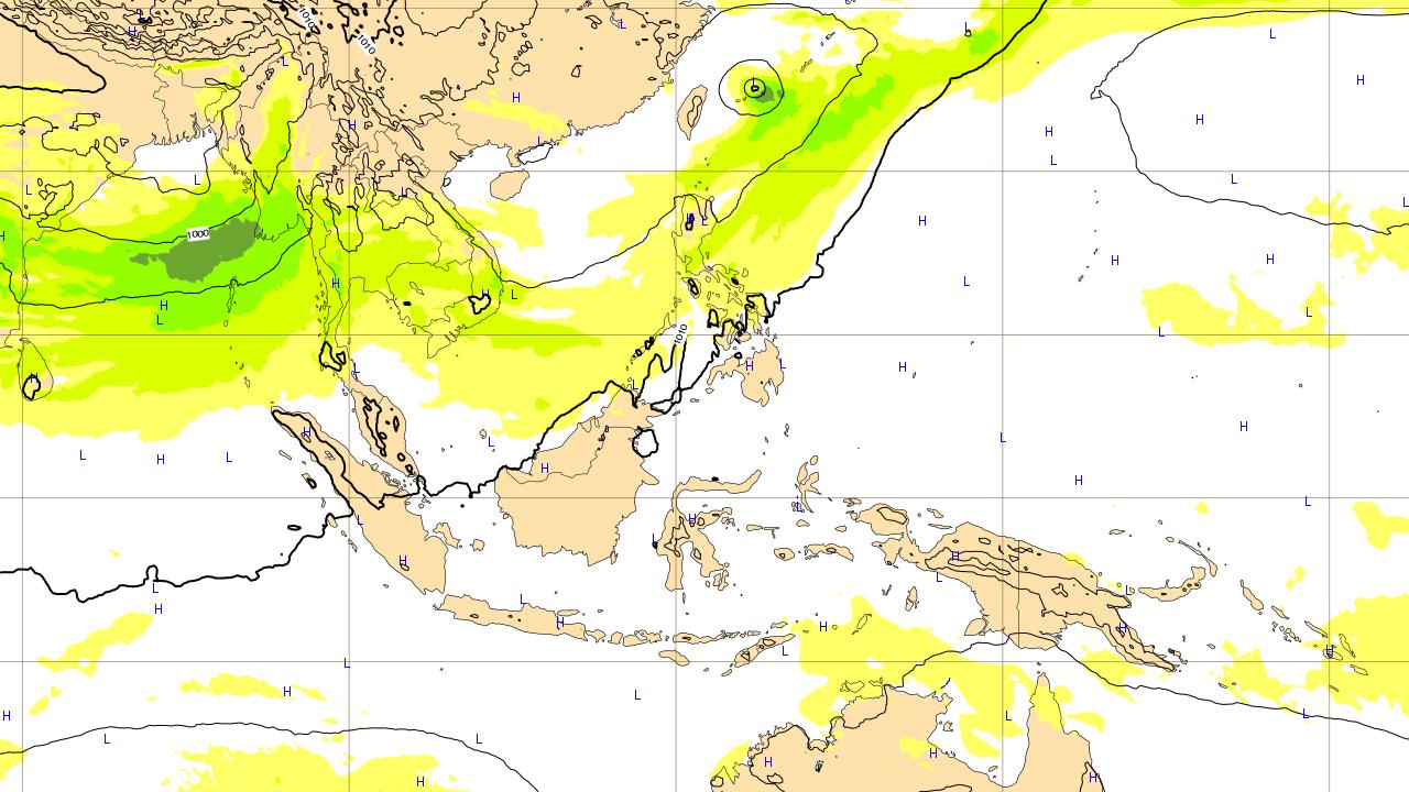 2つ目の沖縄地方に影響がありそうな台風予想進路 2018年6月14日(木)予想図
