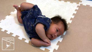 赤ちゃん 生後2ヶ月 寝返り ハンドリガード 兄弟 姉妹 3人兄弟 沖縄移住 沖縄移住生活