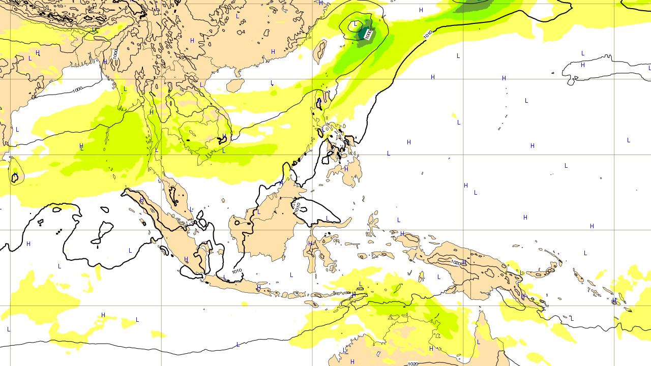ヨーロッパ予報 6月15日(金)台風 進路予想図 台風第6号(ケーミー)