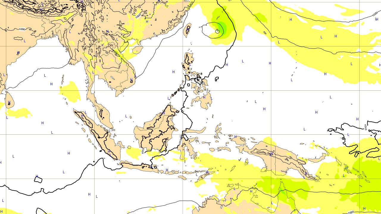 ヨーロッパ予報 7月1日(日)台風 進路予想図 台風第7号 プラピルーン prapiroon