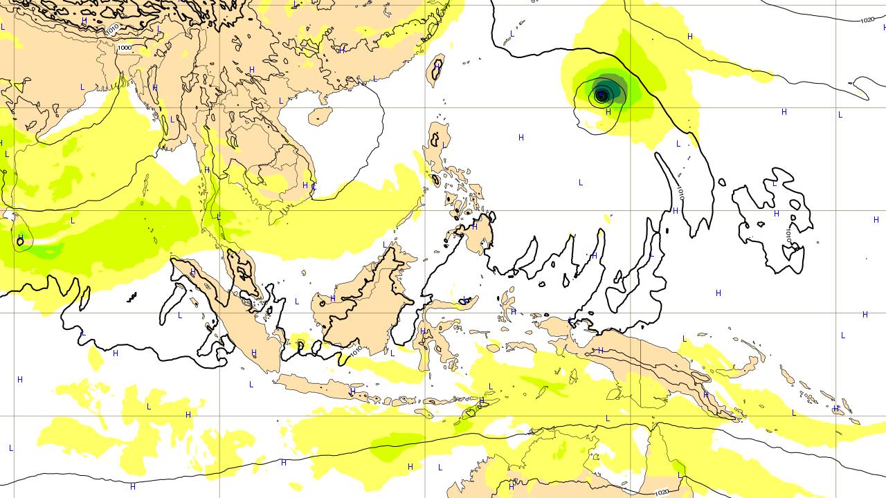 2018年7月10日(火)時点 台風8号 マリア Maria 進路予想