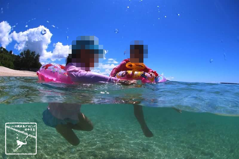 沖縄移住生活で子連れ海水浴