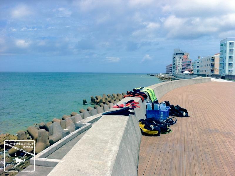 砂辺海岸とダイビング器材