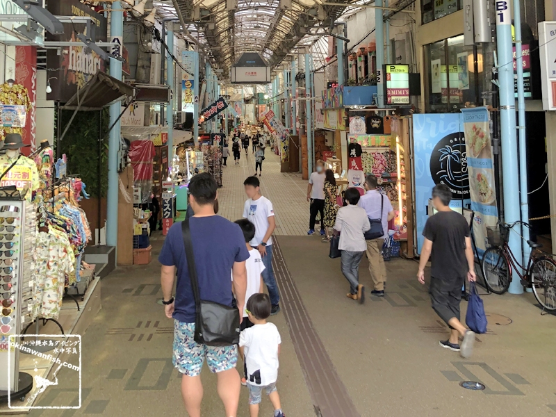 沖縄県那覇市の観光地 平和通り商店街(2020年7月5日撮影)