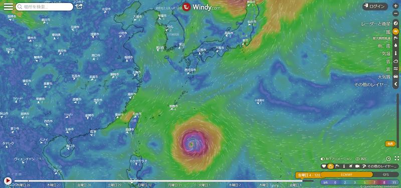台風第10号 ハイシェン Haishen 9月4日(金)