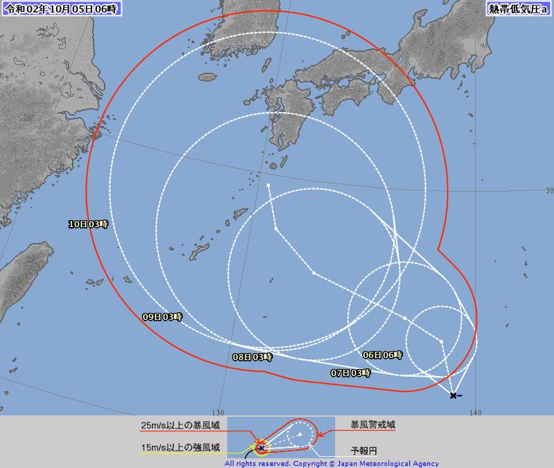 台風第14号 チャンホン(Chan-hom) 気象庁予想