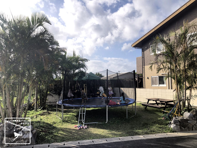 GoToトラベルキャンペーン 沖縄旅行 美ら海ビレッジ トランポリン すべり台