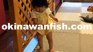 一歳児歩く練習