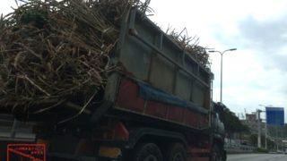 サトウキビの運搬トラック