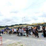 沖縄米軍基地フリマ2015 フリーマーケットの様子