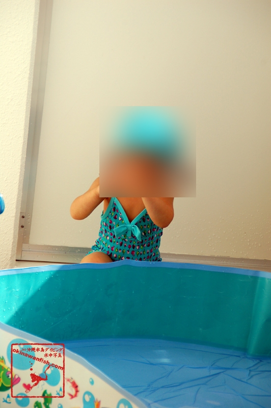 2歳児のプール遊び