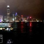 九龍から見た香港島の夜景