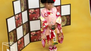 長女3歳 七五三前撮り スタジオアリス