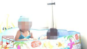 子供 と ベランダ で プール遊び 2歳 3歳 娘 パパ 休日