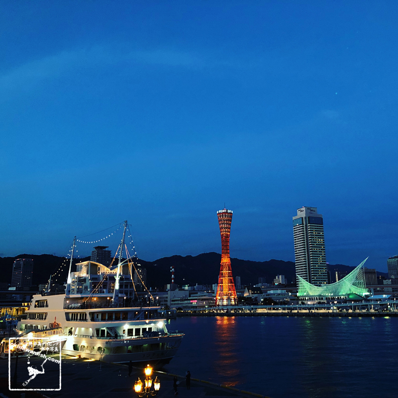 神戸 夜景 ハーバーランド mosaic ポートタワー フィッシュダンスホール スマホ写真