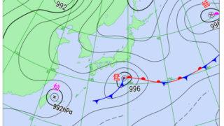 気象庁予報 6月15日(金)台風 進路予想図 台風第6号(ケーミー)