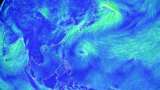 フィリピンの東海上で渦を巻いているのが今後熱帯低気圧になるのか
